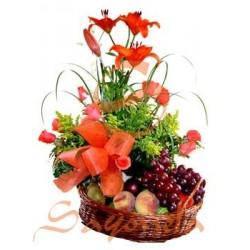Rosas, Lirios y Frutas