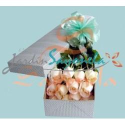 Rosas en caja Decorada