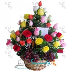 Rosas y Frutas