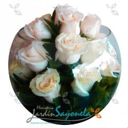 Bombonera de rosas