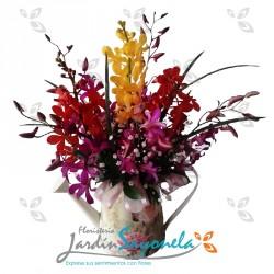Jarrón de Orquídeas Surtidas