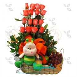 Flores, Frutas y Peluche