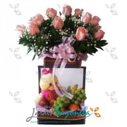 Rosas Peluche y Frutas