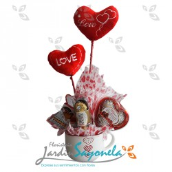 Mug Chocolates y Corazones