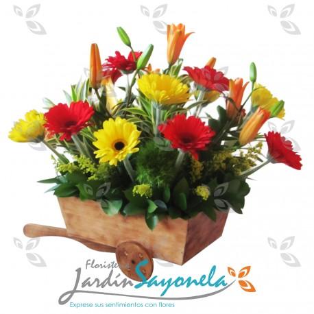 Carreta de Flores Mixtas