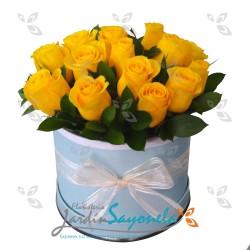Caja de rosas Amarillas