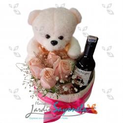 Peluche Rosas y Vino